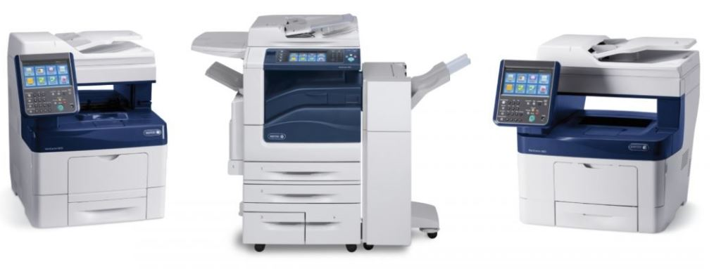 Xerox office business color copiers desktop and floor models